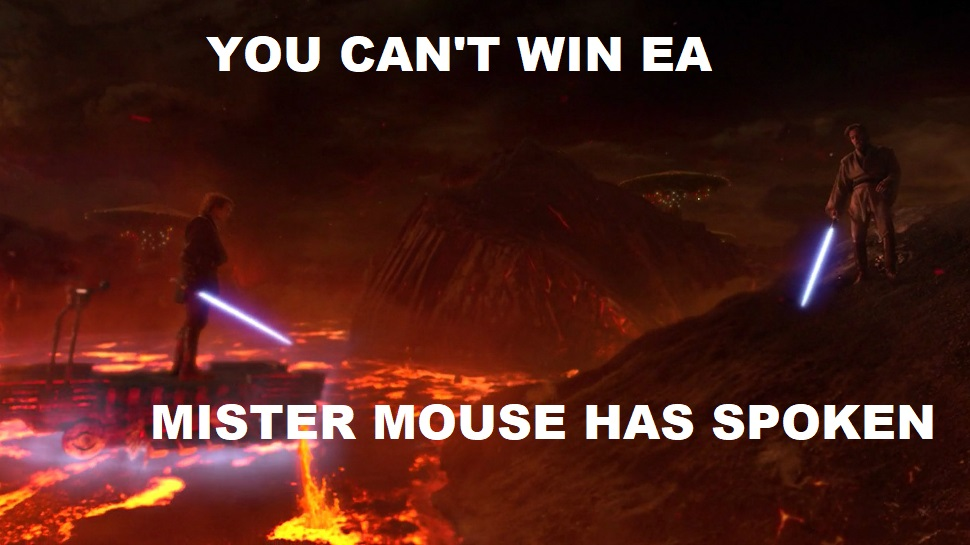 Star Wars meme - You can't win, EA