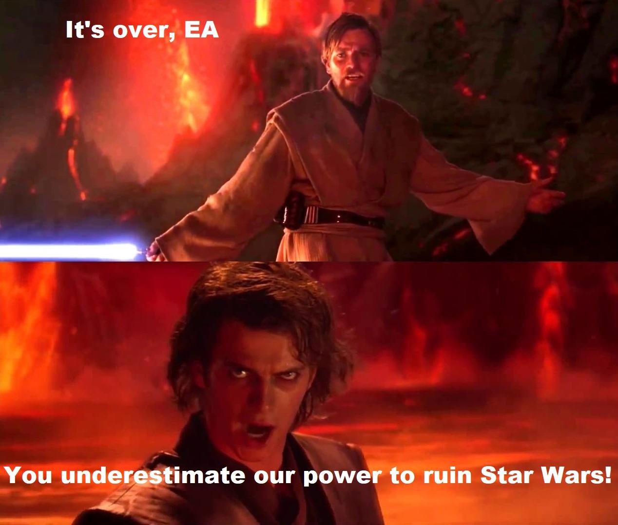 It's over, EA.