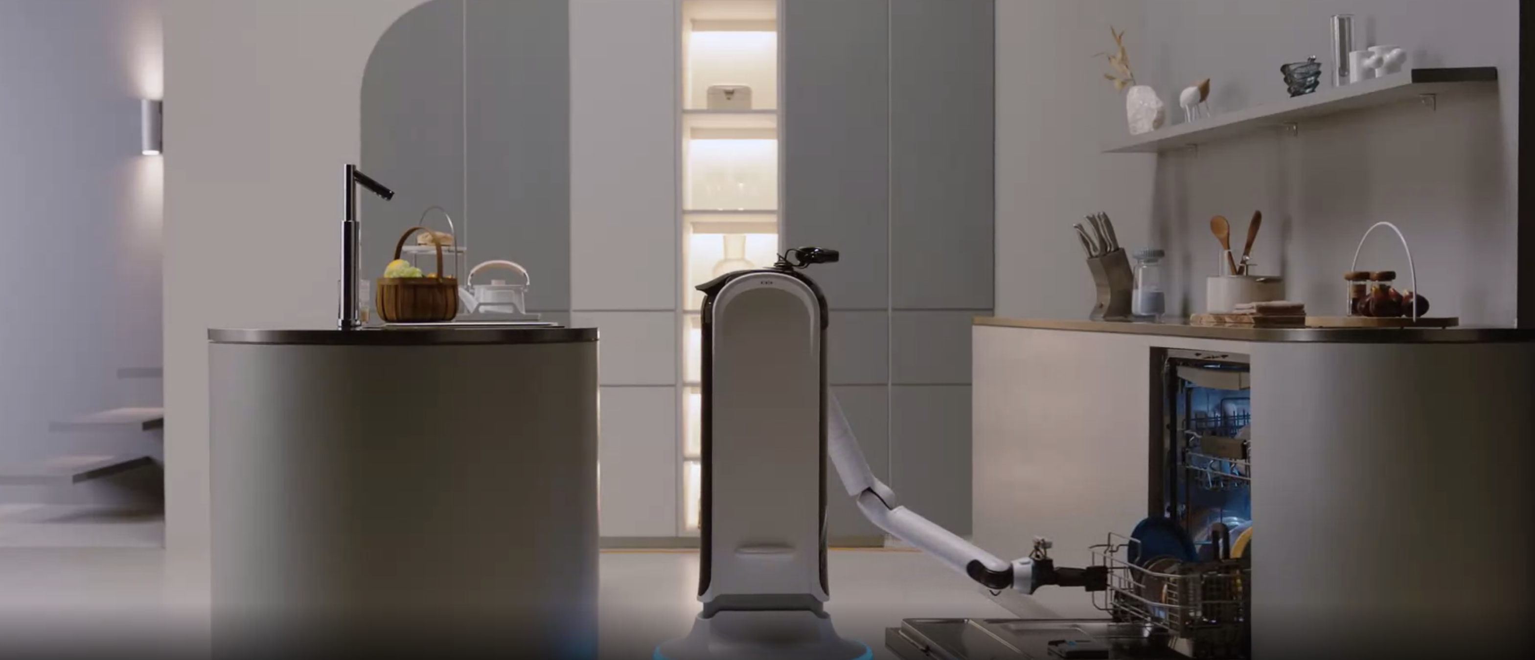 After you bust, Handy Bot will do the dishes.