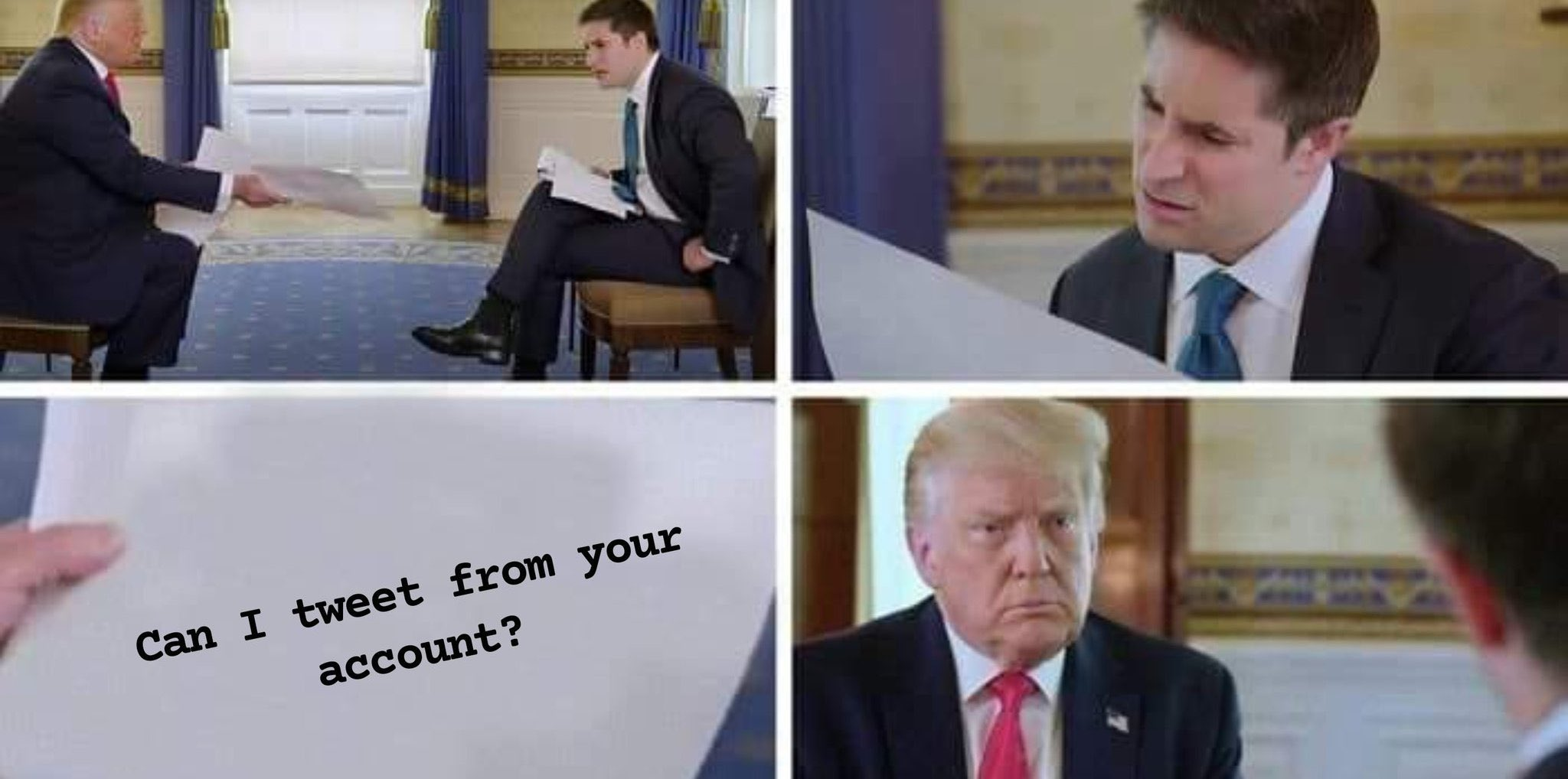 Trump is desperate.